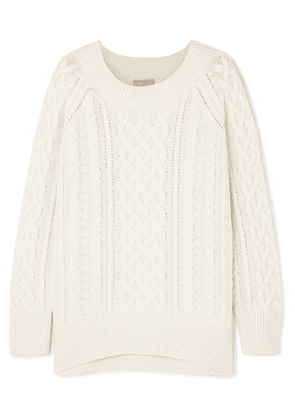 Vince - Cable Knit Wool-blend Sweater - Off-white