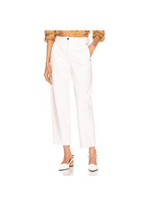 Lemaire Twisted Pant in White