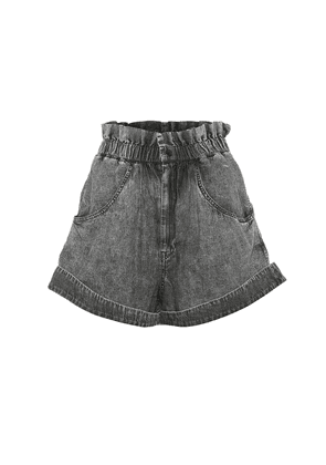 Lucio high-rise denim shorts