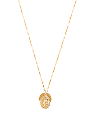 ERTH Vintage Coin Necklace in Metallic Gold.
