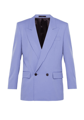 Paul Smith - Double Breasted Wool Blazer - Mens - Purple