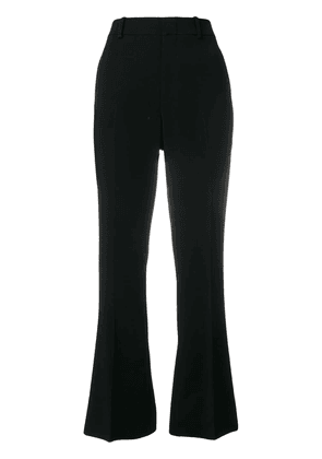 Cropped Bootcut Trousers