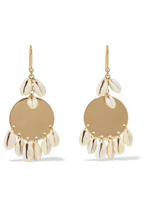 Isabel Marant - Gold-tone And Shell Earrings - one size