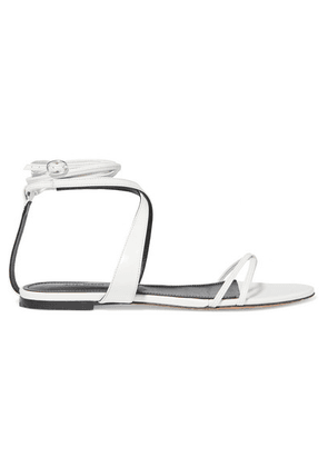 Isabel Marant - Afby Glossed-leather Sandals - White