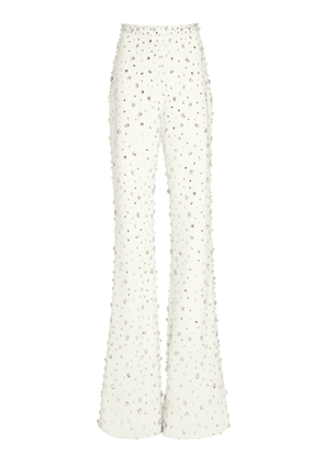 Christian Siriano Crystal Crepe Trousers