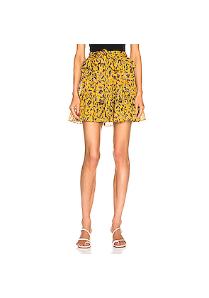 Ulla Johnson Zea Skirt in Floral,Yellow