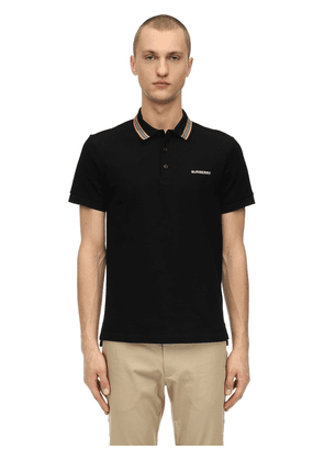 Embroidered Cotton Piqué Polo Shirt