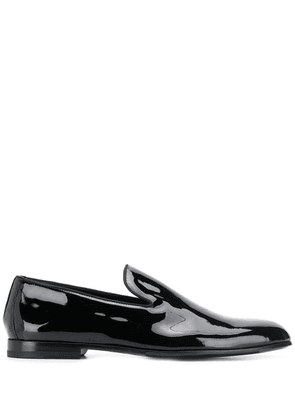 Doucal's classic slip-on loafers - Black