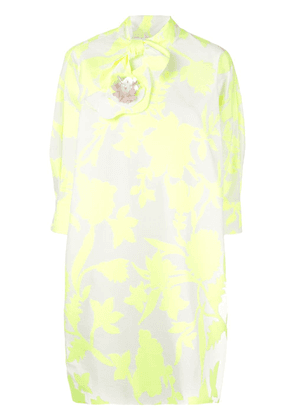 Delpozo tie neck dress - Yellow