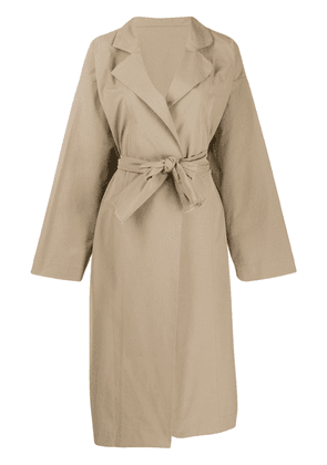 Daniela Gregis belted single-breasted coat - Neutrals