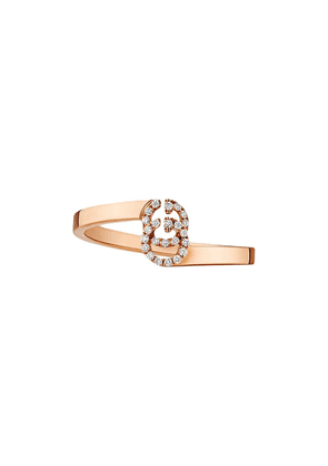 Gucci GG ring in rose gold with diamonds - Pink