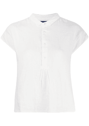 Blue Blue Japan sleeveless fitted top - White