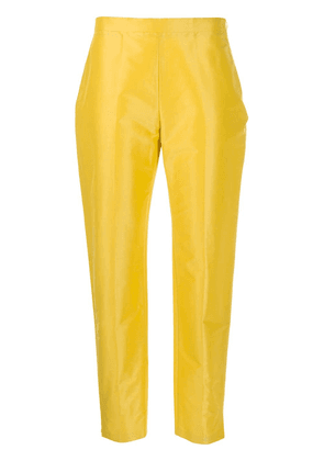 Aspesi tailored cropped trousers - Yellow