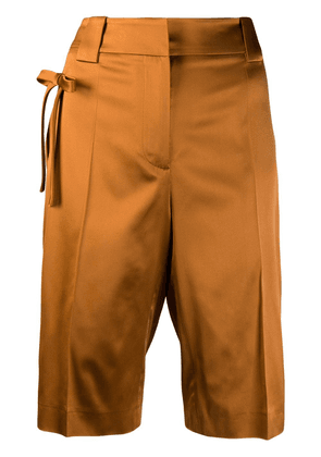 Prada bow detail bermuda shorts - Orange