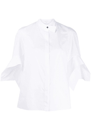 Delpozo flared short-sleeve shirt - White
