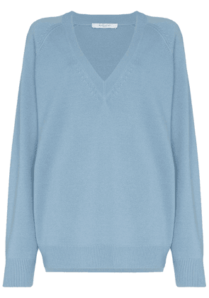 Givenchy V-neck relaxed fit sweater - Blue
