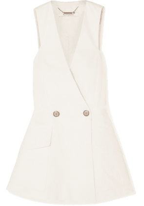 Givenchy - Double-breasted Cotton-canvas Peplum Vest - Ivory