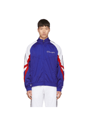 Champion Reverse Weave Blue Archive Logo Tape Hooded Track Jacket