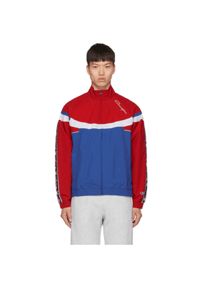 Champion Reverse Weave Red & Blue Full Zip Track Jacket