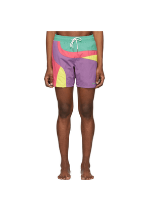 Aimé Leon Dore Multicolor Colorblocked Swim Shorts