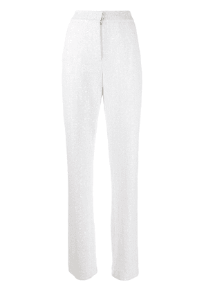 Gianluca Capannolo Diane sequin trousers - White
