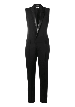 Saint Laurent tailored sleeveless jumpsuit - Black