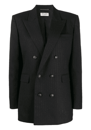 Saint Laurent double-breasted fitted blazer - Black