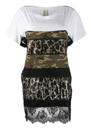 Antonio Marras mixed print T-shirt - Green