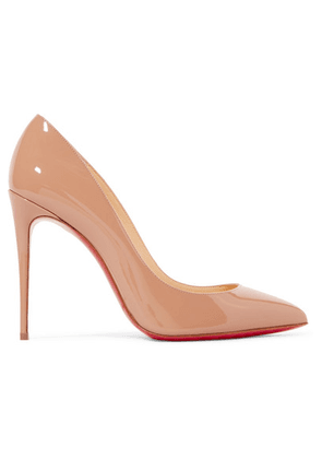 Christian Louboutin - Pigalle Follies 100 Patent-leather Pumps - Neutral