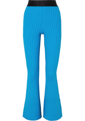 Ellery - Neo Dada Ribbed-knit Flared Pants - Blue