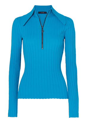 Ellery - Charters Bleu Ribbed-knit Top - Blue