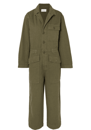 Current/Elliott - The Richland Cotton And Linen-blend Jumpsuit - Army green