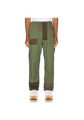 Engineered Garments Fatigue Pant Cotton Ripstop in Green