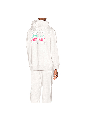 adidas by Alexander Wang Graphic Hoodie in Gray