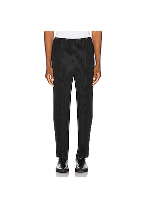 Issey Miyake Homme Plisse Tailored Pleats 2 Trousers in Black