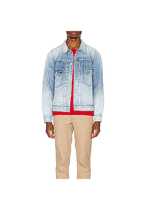 Visvim Damaged Denim Jacket in Denim Light