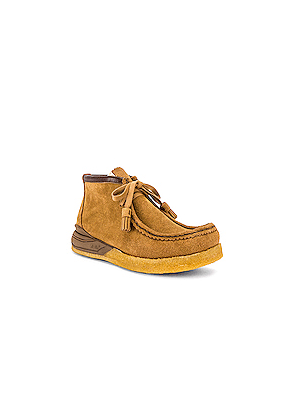 Visvim Sneaker Ankle Moccasin in Brown