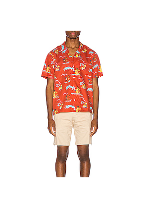 Aime Leon Dore Block Party Leisure Shirt in Novelty,Red