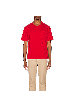 Visvim Jumbo Tee in Red