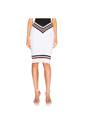 Y/Project Cut Out Skirt in White