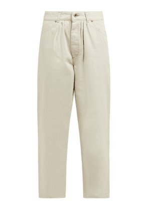 Chimala - Pleated High Rise Jeans - Womens - Ivory