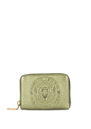 Balmain embossed logo wallet - Green