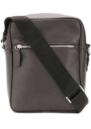 Canali logo embossed shoulder bag - Brown
