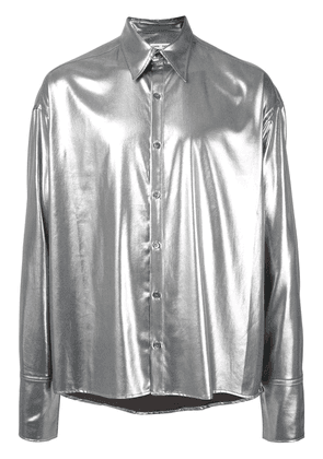 Cmmn Swdn Cecil Light Lame shirt - Silver