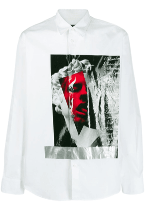 Dsquared2 contrast print shirt - White
