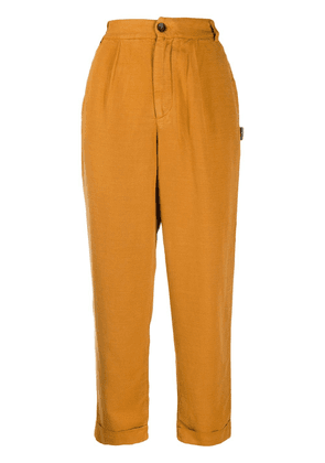 Ecoalf high-rise trousers - Yellow