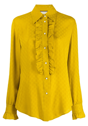 Gucci logo jacquard blouse - Yellow