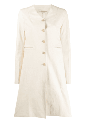 Cherevichkiotvichki single breasted coat - White