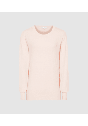 Reiss Abella - Wool Cashmere Blend Jumper in Pink, Womens, Size S