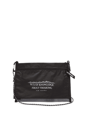 And Wander - Illustrated Dual Pouch Bag - Mens - Black